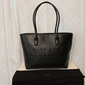 NWT DKNY Hutton Debossed Leather Tote